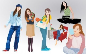 girl-lifestyle-vector-set-1_73308
